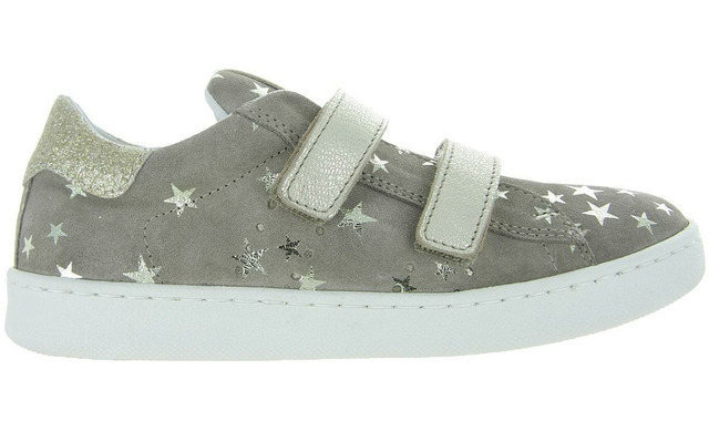 Clic Klittenband Sneakers - Cl-9476 Star Taupe-goud Meisjes - Clic!