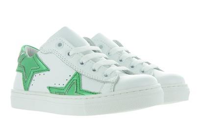 Witte Sneakers 947 - Met Groene Ster Meisjes - Freesby