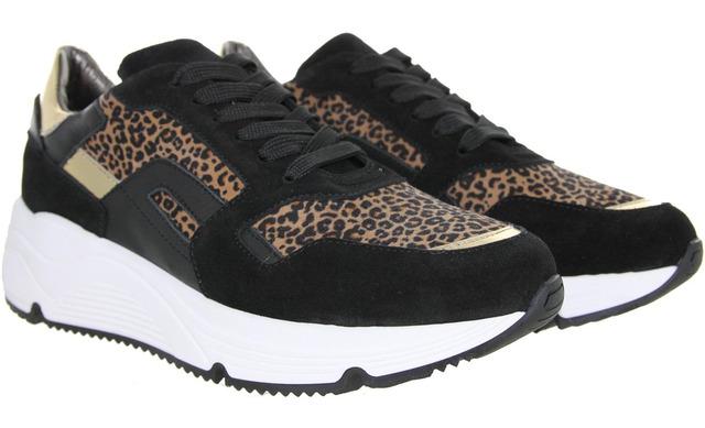 Hip Donna Sneakers - D1977 Zwart Luipaard - Hip Donna