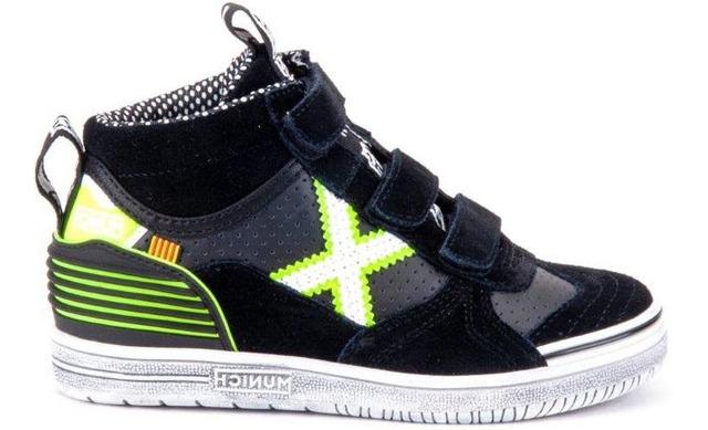 Munich Klittenband Sneakers - 1575229 Black - Yellow Jongens - Munich