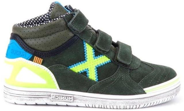 Munich Klittenband Sneakers - 1575230 Khaki - Lime Jongens - Munich