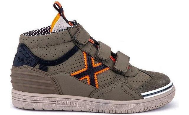 Munich Klittenband Sneakers - 1575235 Green - Orange Jongens - Munich