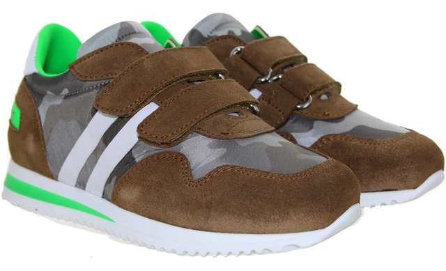 Rondinella Klittenband Sneaker - 11535-2 Cognac - Rondinella
