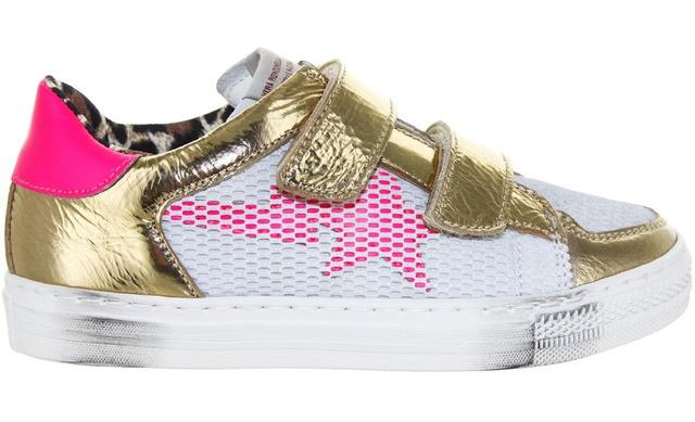 Rondinella Klittenband Sneaker - 11732c Goud Meisjes - Rondinella