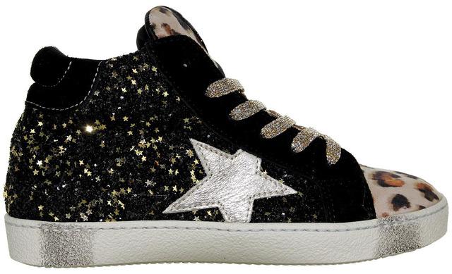 Rondinella X Golden Goose - 11809-2 Zwart Meisjes Sneaker - Rondinella