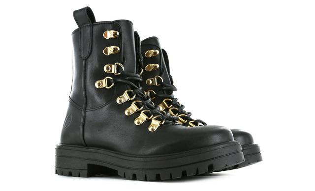 Shoesme Veterboots - Re21w014-a Zwart Meisjes - Shoesme