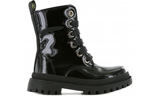 Shoesme Veterboot - Nt21w006-c Shiny Black - Shoesme
