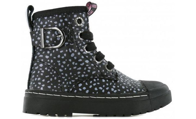 Shoesme Veterboot - Black Dots Biker - Shoesme