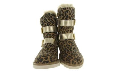 Hip Boots Gevoerd - H2445 Luipaard Meisjes - Hip
