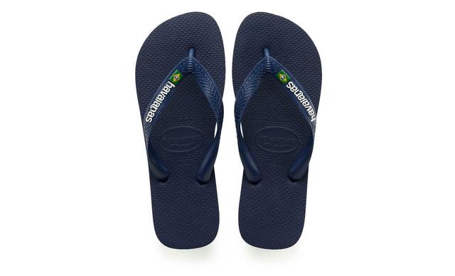 Havaianas Slippers - Brasil Logo Blauw Unisex - Havaianas