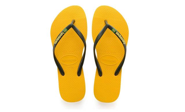Havaianas Slippers - Slim Brasil Geel Unisex - Havaianas