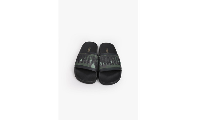 Groene Slippers - Elastic Camo Jongens - The White Brand