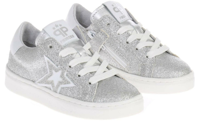 Pinocchio Sneakers - P1129 Zilver Meisjes - Pinocchio By Hip