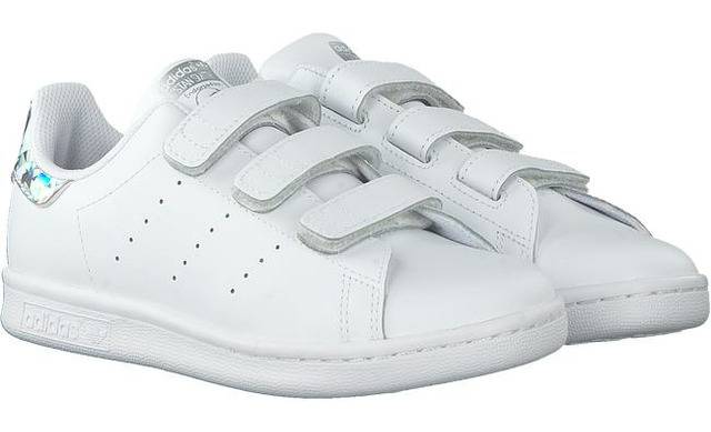 Adidas Sneakers Klittenband - Stan Smith Zilver Meisjes - Adidas Originals