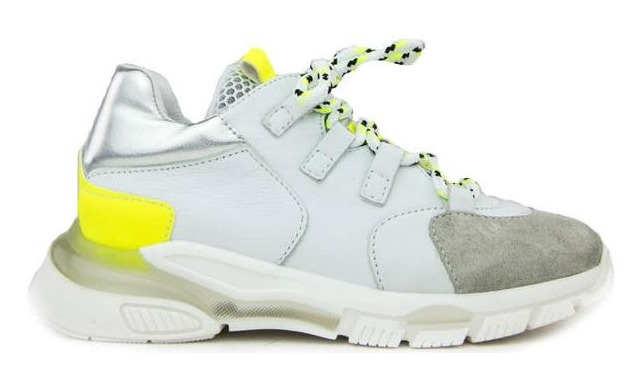 Clic Sneakers - Cl-9855 Basket/lime Wit Meisjes - Clic!
