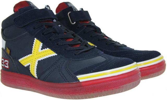 Max #33 F1 Sneakers - Munich Blauw Hoog Veter Jongens - Munich