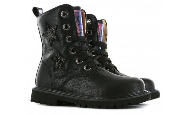 Shoesme Veterboots - Tc20w060-a Zwart Meisjes - Shoesme