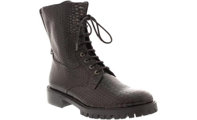 Hip Style Laarzen - D1973 Croco Zwart - Hip Style Women