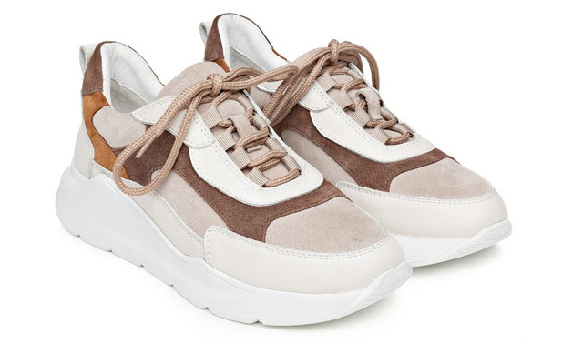 H32 Coco Coffee & Toffee - Sneaker Cappuccino Dames - H32