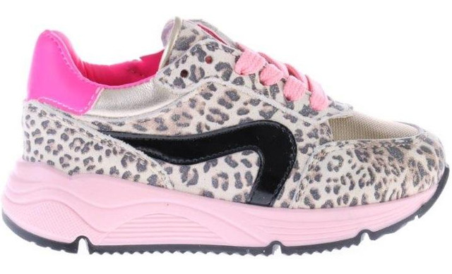 Pinocchio Sneakers - P1758 Luipaard Meisjes - Pinocchio By Hip