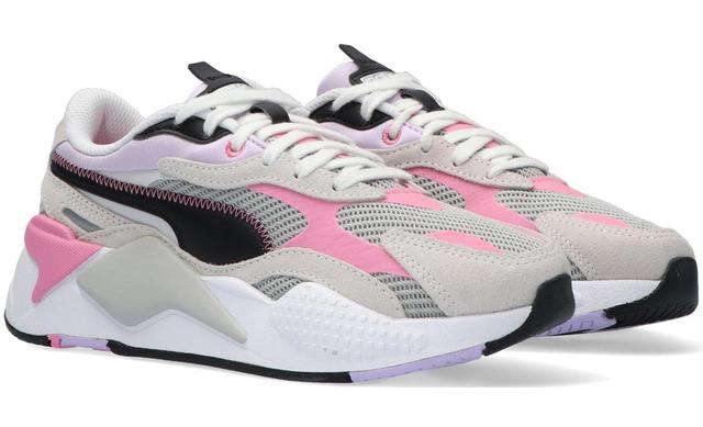 Puma Rsx3 Twill Airmesh - White-violet  Jr - Puma