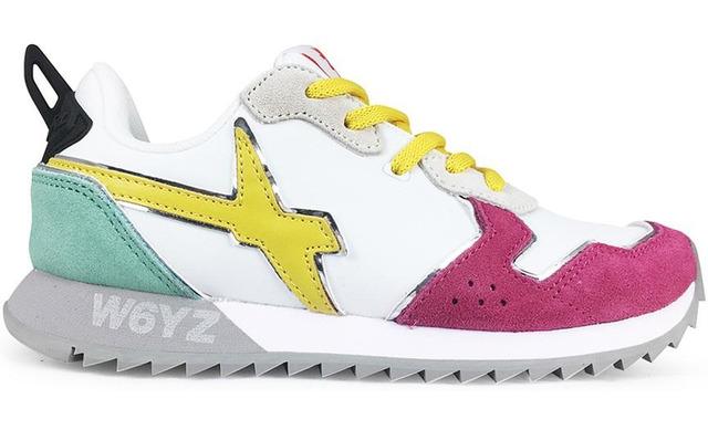 W6yz Sneaker - Jet-j White - Fuxia Meisjes - W6yz