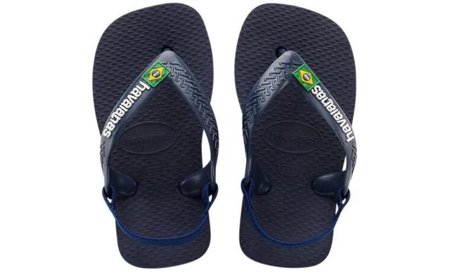 Havaianas Slippers Blauw - Baby Brasil Logo Blauw - Havaianas