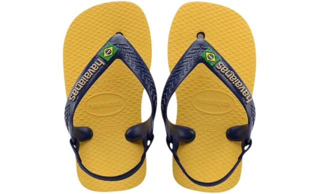 Havaianas Slippers Geel - Baby Brasil Logo Geel - Havaianas