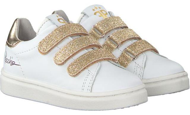 Pinocchio Klittenband Sneakers - P1850 Wit - Platinum - Pinocchio By Hip