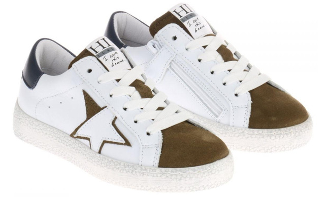 Hip Sneakers - H1213 Wit-groen - Hip