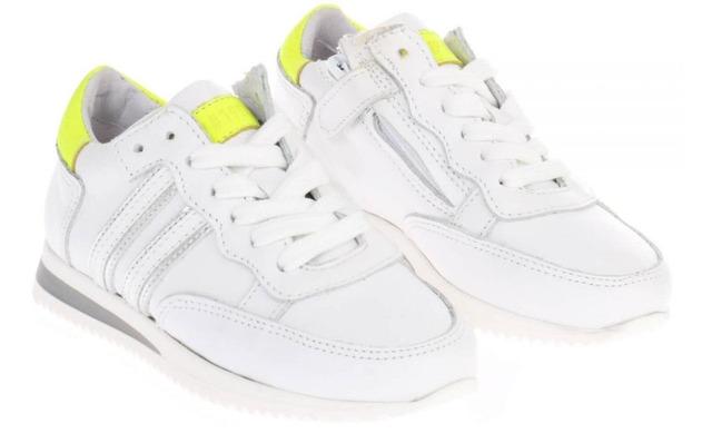 Hip Sneakers - H1854 Wit Met Geel - Hip