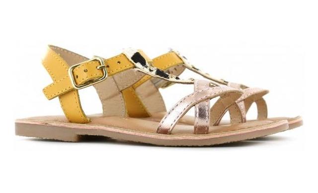 Shoesme Sandalen - Geel Met Metallic - Shoesme