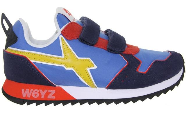 W6yz Sneaker - Jet-vl Navy - Azure - Red Jongens - W6yz