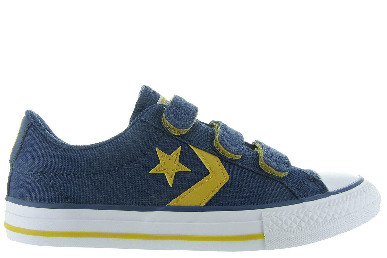 fbf3e2fd38d Kinderschoenen Blauwe All Star Klittenband - Star Player 660035 Jongens -  Converse blauw | Maxime Schoenen