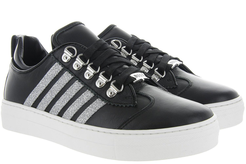 0d0b20bc70c Damesschoenen Dsquared2 Sneakers Dames - Zwart - Dsquared2 zwart ...