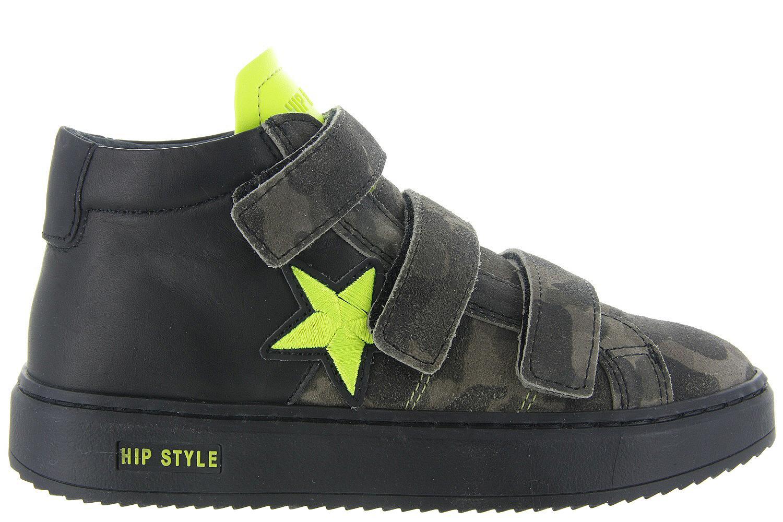 Kinderschoenen Jongens.Kinderschoenen Hip Klittenbandschoenen H1587 Groen Jongens Hip