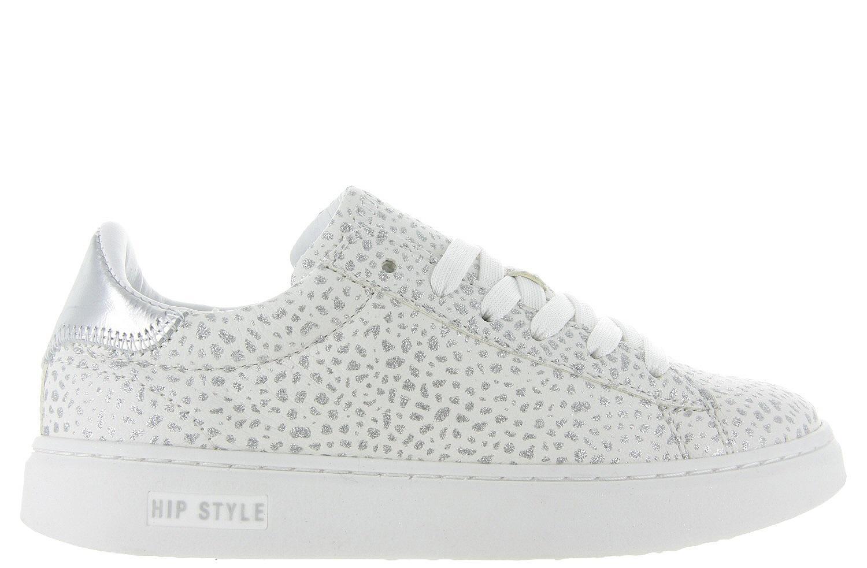 Meisjes Kinderschoenen.Kinderschoenen Hip Sneakers H1754 Zilver Giraffe Meisjes Hip