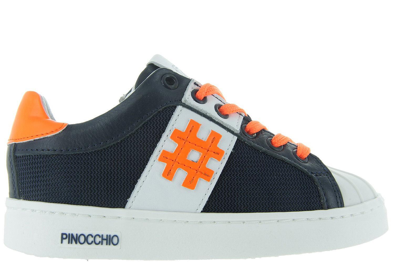 bec9ec08945 Kinderschoenen Blauwe Sneakers - P1191 Jongens - Pinocchio | Maxime Schoenen
