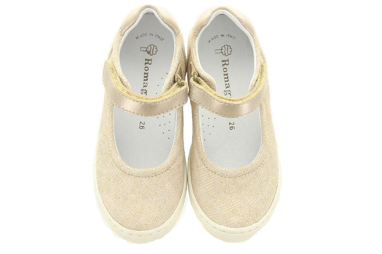 Romagnoli Kinderschoenen.Kinderschoenen Gouden Bandschoenen 8755 431 Meisjes Romagnoli