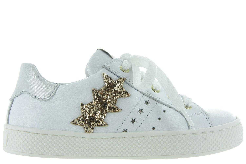 Romagnoli Kinderschoenen.Kinderschoenen Witte Sneakers 1640 126 Meisjes Romagnoli Wit