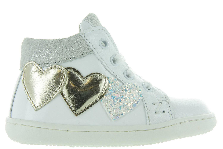 96ebcc70723 Kinderschoenen Witte Hart Sneakers - N12-1316 Meisjes - Zecchino D'oro |  Maxime Schoenen